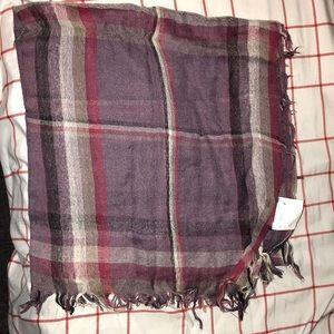 H&M plaid scarf